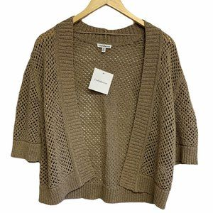 CROFT & BARROW Cropped Open Front Shrug Cardigan